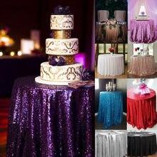 Nappes de paillettes rondes couverture de Table mariage noël décoration de fête à la maison