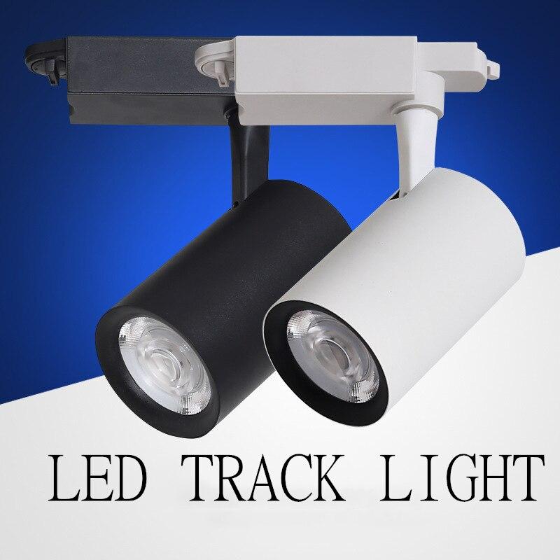 high quality LED Track light Track lighting cob 20w 30w Clothing Shop Windows Showroom Exhibition Spotlight Rail Spot Lamp