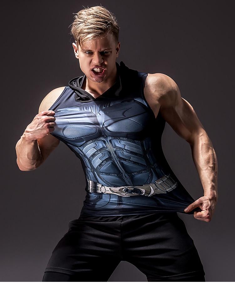 Camiseta sin mangas para hombre, sin mangas, con impresión 3D de superhéroes, sin mangas, 2020
