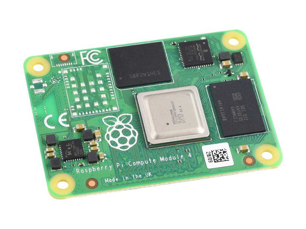 وحدة كمبيوتر Raspberry Pi 4 ، قوة Raspberry Pi 4 في عامل شكل مضغوط ، بدون وحدة WIFI ، ذاكرة وصول عشوائي 2 جيجابايت ، خيارات لـ EMMC