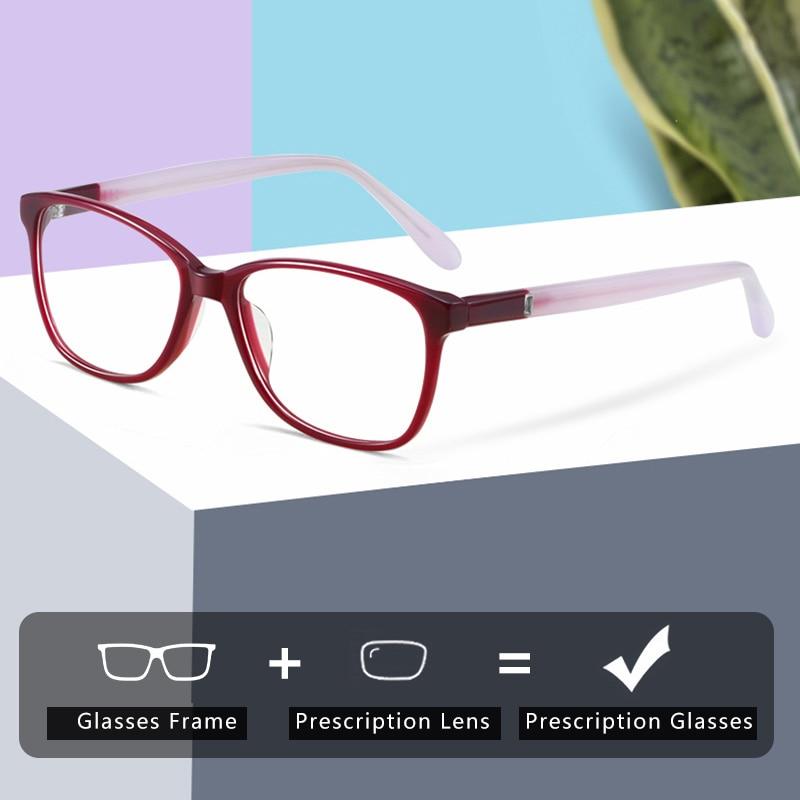ZENOTTIC Acetate Square Prescription Progressive Glasses Anti Blue Rays Photochromic Eyeglasses Myop