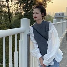 Small Early Spring Wear Retro Set Women's Hong Kong Bandage Dress Top Salt Sweet Fried Street Two-Pi