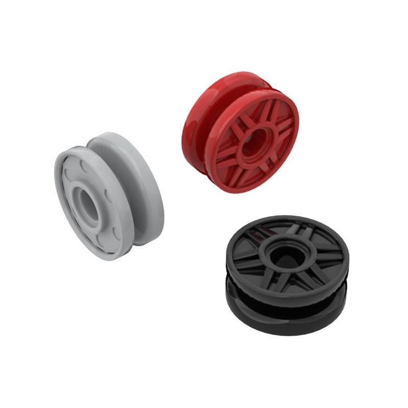 BuildMOC 56902 18x8mm rad hub big pulley Für Bausteine Teile DIY Bau Kreative geschenk