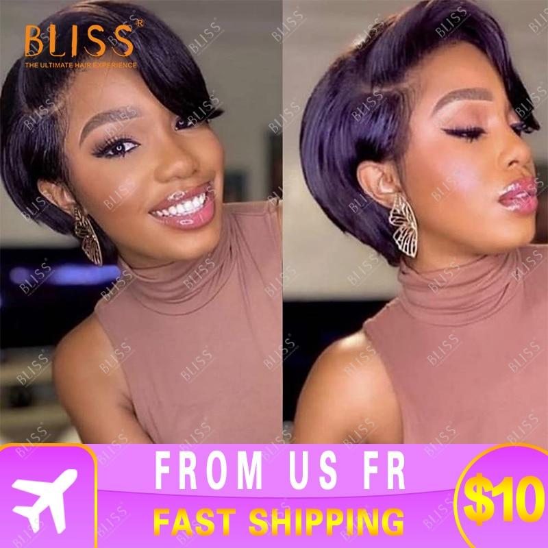 Bliss Short Lace Front Wigs 100% Brazilian Human Hair Wigs Women Short Lace Wigs Pixie Cut Human Hai