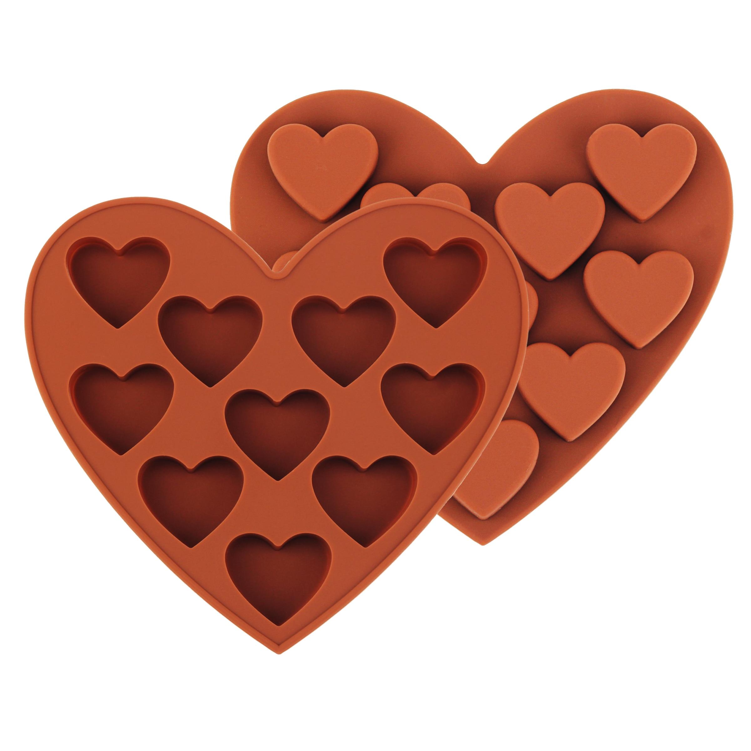 Silicone Mini Heart Shaped Chocolate Chunk Cake Baking Mold Tool DIY Mold Kitchen Tool недорого