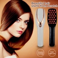 electric vibration massage comb hair scalp laser massage comb hair growth anti loss phototherapy color light care hairbrush