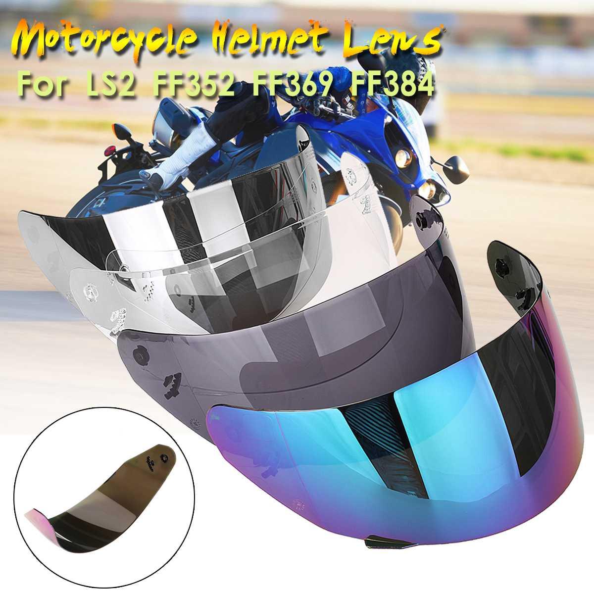 Fumaça colorida lente capacete rosto cheio viseira capacete da motocicleta para ls2 ff352 ff351 ff369 ff384