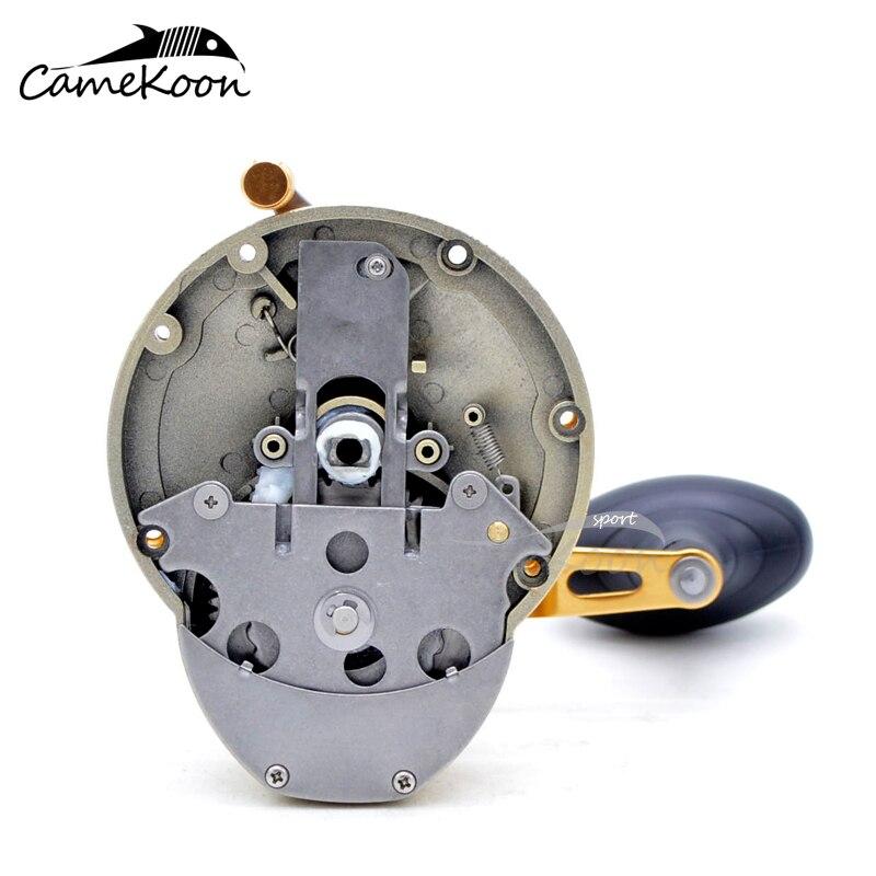 CAMEKOON Star Drag Saltwater Trolling Reel 5.1:1/4.1:1 Gear Ratio 10KG Max Drag RIGHT HAND Sea Boat Baitcasting Fishing Reel enlarge