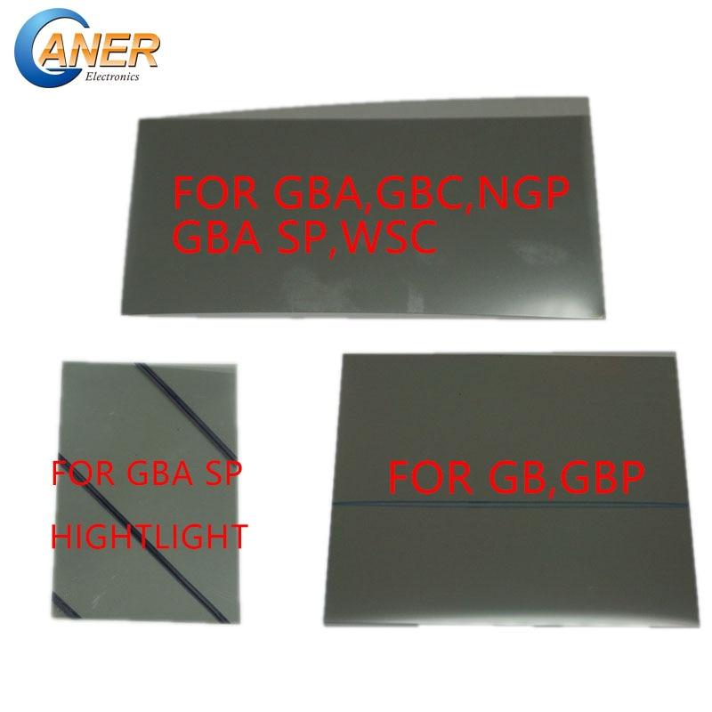Lámina de filtro polarizado 2 uds para Gamboy GB DMG GBP GBA GBC GBA SP NGP WSC pantalla retroiluminada modificar parte polarizada