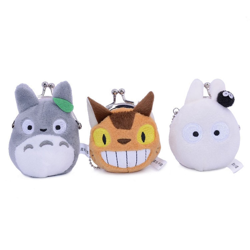 8X8CM My Neighbour Totoro Bus Cat Mini Plush Coin Purse
