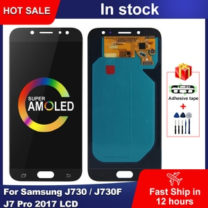 AMOLED For Samsung Galaxy J730 LCD J730F J7 Pro 2017 LCD Display Touch Screen Digitizer Assembly For Samsung J7 2017 Display