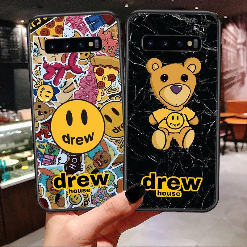 Роскошный бренд Drew House, Джастин Бибер, мягкий чехол для телефона, для samsung Galaxy S7 Edge, S8, S9 Plus, S10 Lite, S10Plus, чехол со смайликом