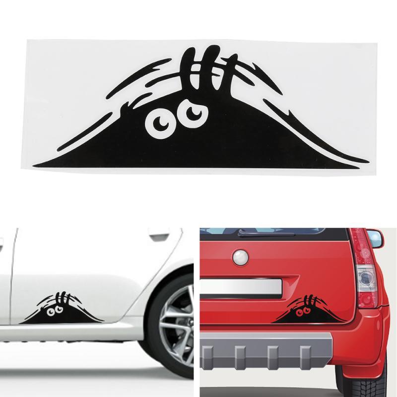 Автомобильные наклейки, Забавные 3D наклейки с большими глазами, автомобильные наклейки, черные наклейки с монстрами для украшения автомобиля, автомобильные товары, автомобильные аксессуары