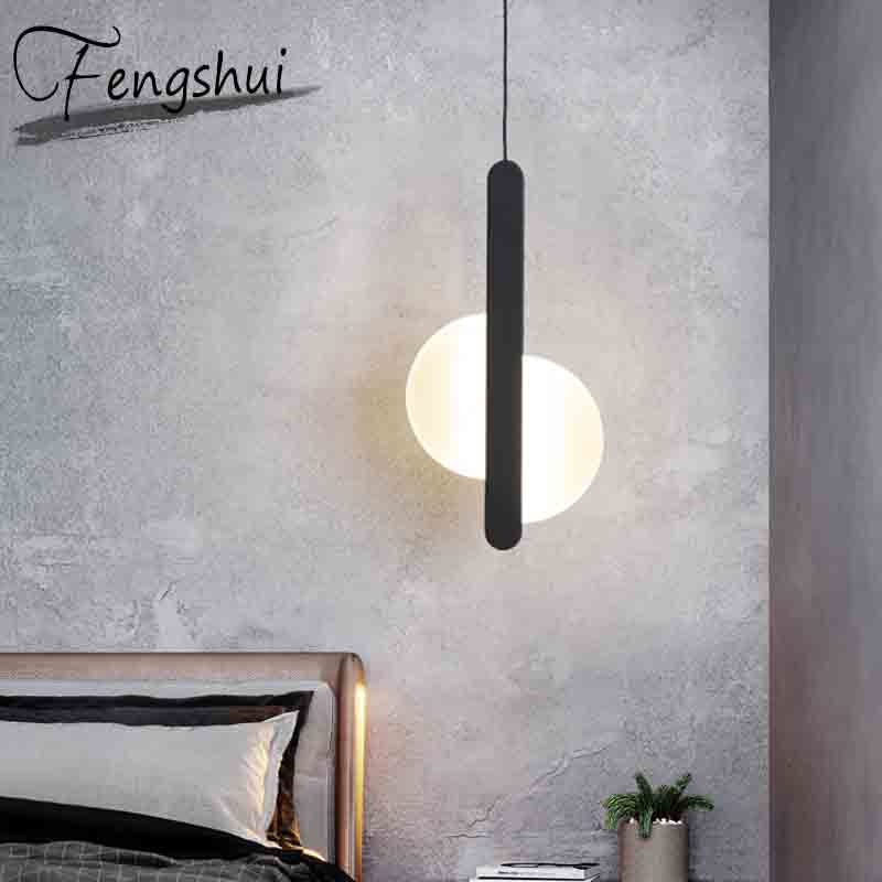 Lámparas colgantes nórdicas modernas de hierro PVC LED iluminación decoración del hogar lámpara colgante comedor sala de estar dormitorio mesita de noche lámpara colgante