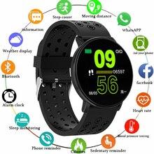 W8 montre intelligente hommes fréquence cardiaque étanche IP67 Sport Message pousser bluetooth pince magnétique chargeur Fitness piste Bracelet intelligent