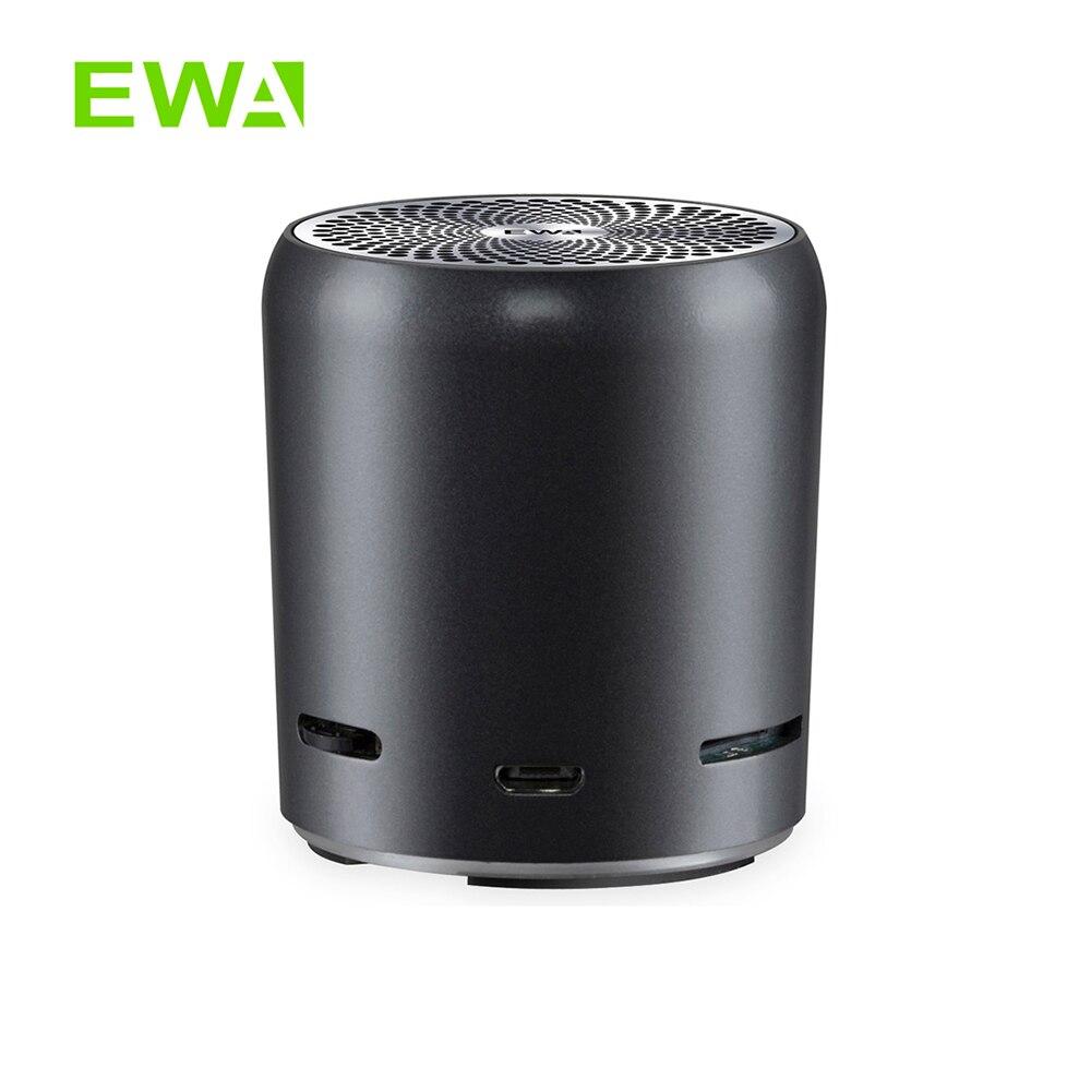 EWA A107s سماعات بلوتوث محمولة صغيرة للغاية 5.0 TWS أفضل صوت باس بومبوكس صوت عالي الدقة قوي 8 ساعات وقت اللعب جسم معدني