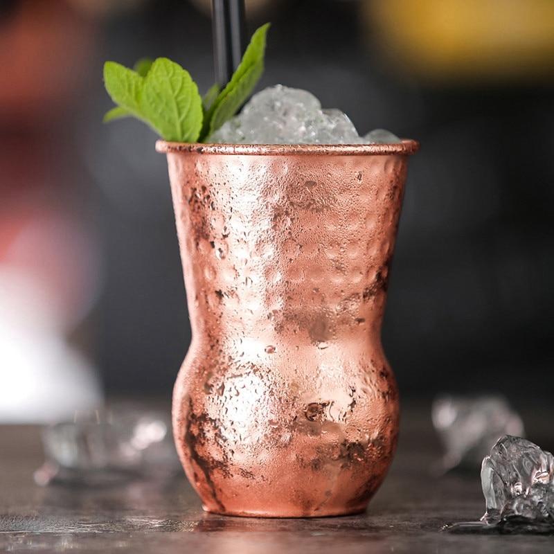 Producto en oferta, 1 pieza de 390Ml, tazas de mula de Moscú, taza de cerveza chapada en cobre martillada, taza de café, vaso de vidrio para agua, taza para bebidas, taza