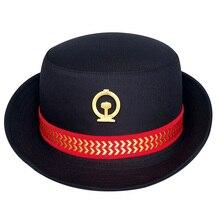 Casquette duniforme pour femmes   Bandeau pour femmes, chapeaux de voyage en Camping et en plein air, chapeau Cospaly de Performance sur scène, casquette dassistant de vol ferroviaire