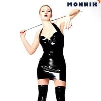 monnik latexsexy black latex dresses rubber unique party open bust club wear