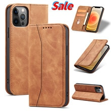 Leather Flip Case for iPhone 6 6s 7 8 SE 11 12 Pro Max PLUS X XS XR Luxury Wallet Cards Stand Phone