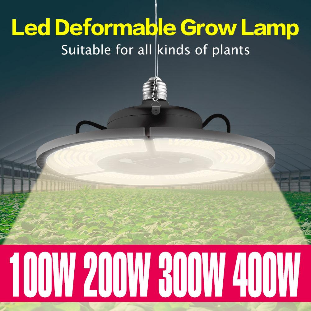 Светодиодный Grow светильник s E27 рассада растения лампа 100W 200W 300W 400W светодиодный полный спектр Sunlike светильник Гроу тенты для теплый белый рас...