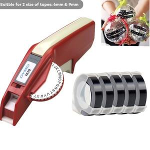 Dymo 1610 label maker 3D  9 mm Ribbon Organizer  embossing manual belt typewriter Dymo manual labeling typewriter for 6/9mm