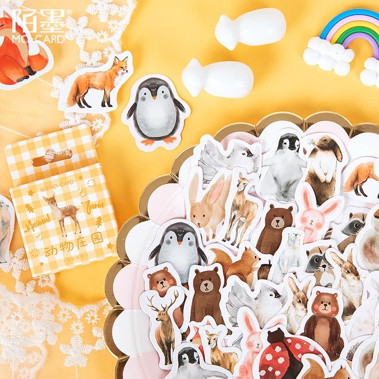mohamm-45-pcs-in-scatola-adesivi-fattoria-degli-animali-adesivi-carino-pinguino-decorazione-sticker-fiocchi-di-scrapbooking-regalo-di-ragazza-della-scuola-forniture