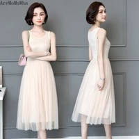 dress in modal long section of outer wear big yards gauze skirt bottoming inside the ride vest female spring summer lace dress