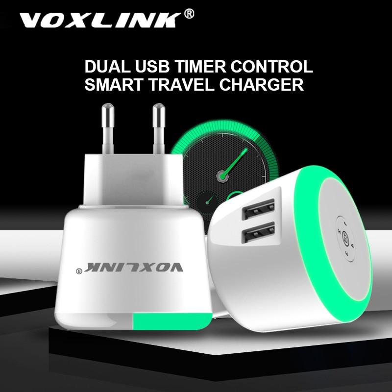 Voxlink usb carregador 5 v 2.4a led temporizador controle inteligente carregador para iphone ipad samsung galaxy s9 s10 galaxy htc xiaomi lg huawei ne