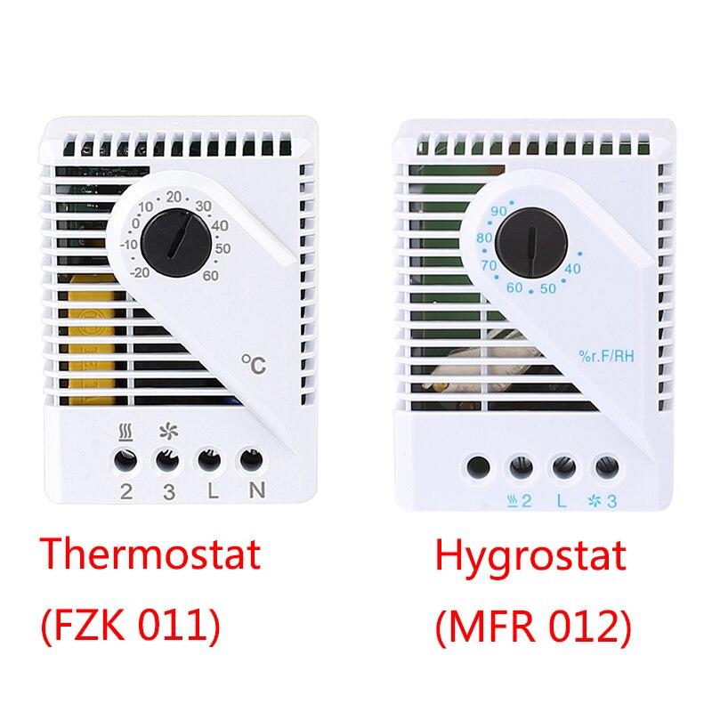 Termostato hygrosat FZK011 MFR012 caja eléctrica controlador de temperatura mecánica controlador de humedad ventilador calentador enfriador