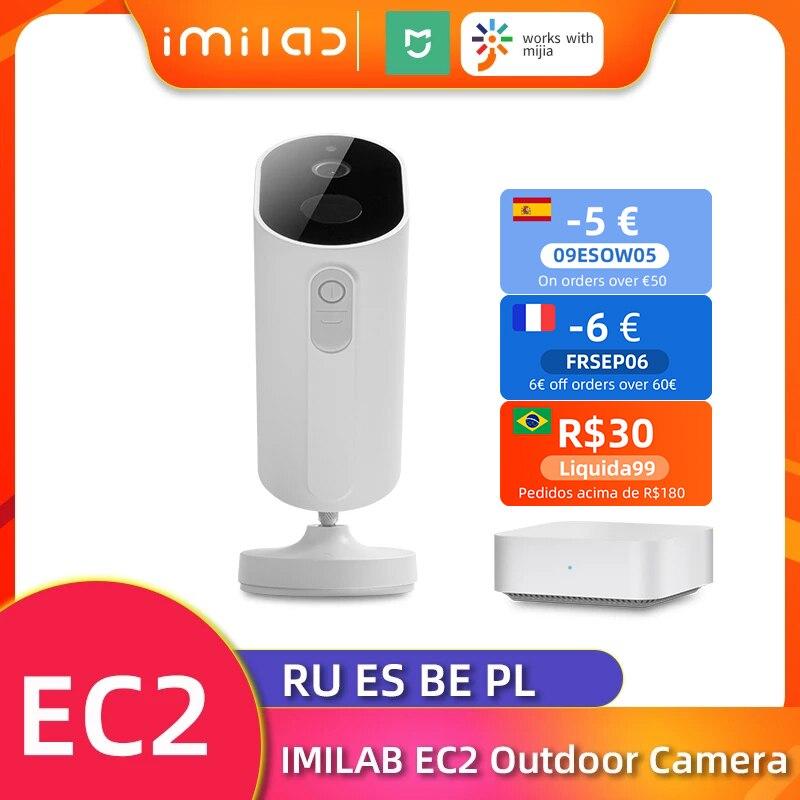 IMILAB EC2 Ip كاميرا 1080P HD كاميرا مراقبة للمنزل في الهواء الطلق واي فاي كاميرا لا سلكية Mihome للرؤية الليلية Cctv كاميرا مراقبة