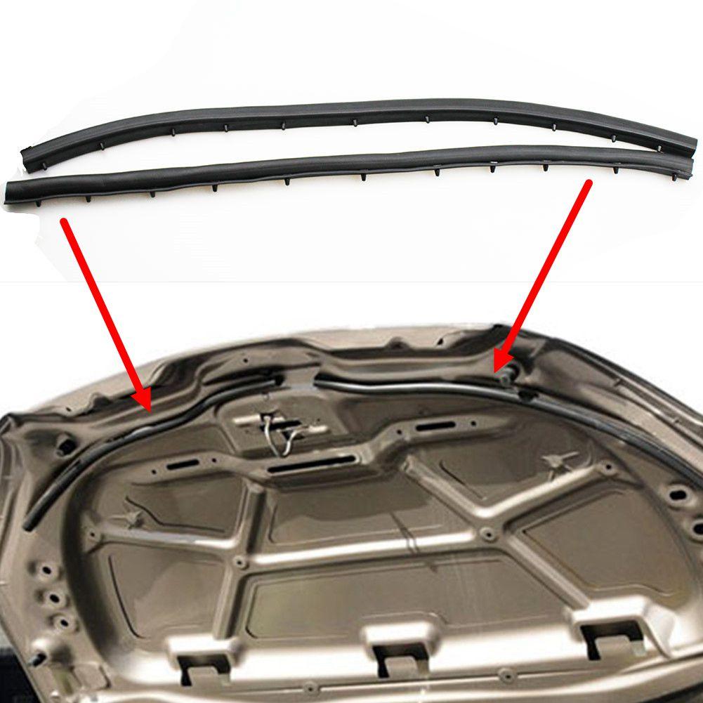 LARBLL 2 шт./компл. передняя крышка двигателя Звукоизолирующая уплотнительная лента для Peugeot 301 2014-2016 для Citroen Elysee