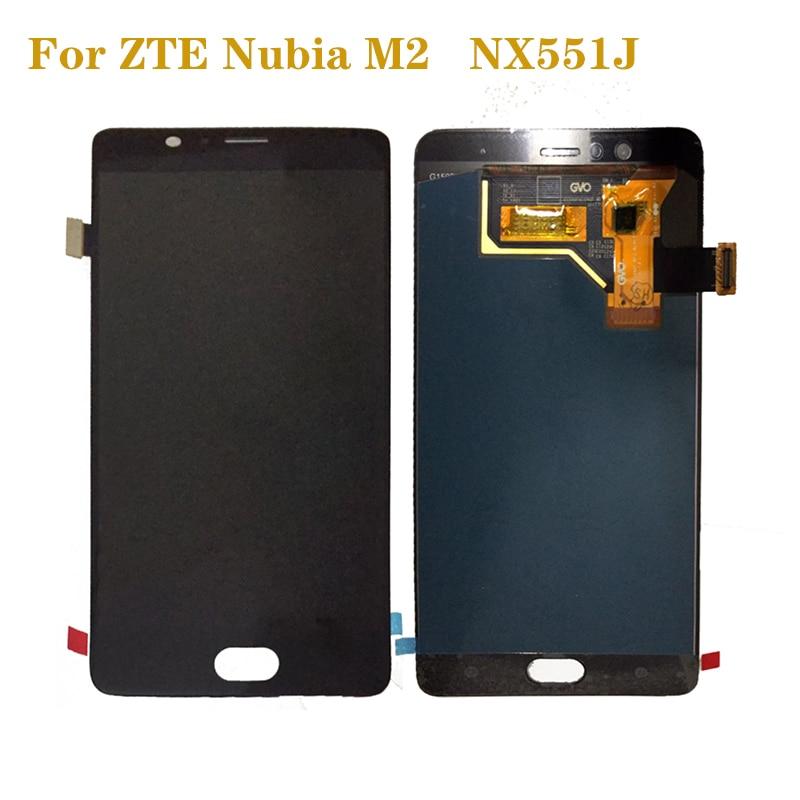 ЖК-дисплей кодирующий преобразователь сенсорного экрана в сборе для ZTE Nubia M2 NX551J AMOLED
