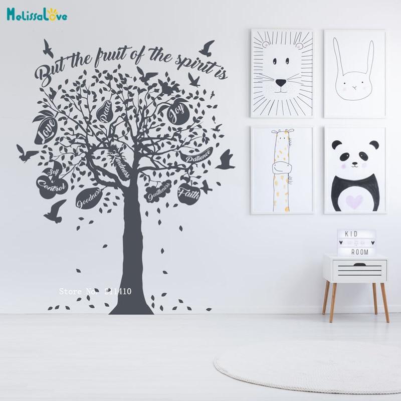Pegatina de vinilo de arte grande para decoración del hogar con diseño de árbol espiritual para habitación infantil, sala de estar, dormitorio, Mural, pegatinas gigantes YT3742