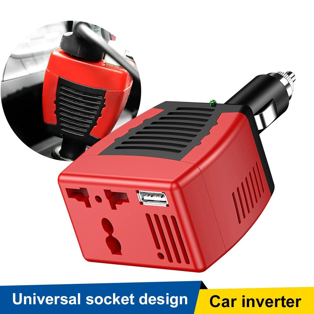 Распродажа, 75 Вт, автомобильный Мощность инвертор, работающего на постоянном токе 12 В до 110 В переменного тока, автомобильный адаптер Зарядн...