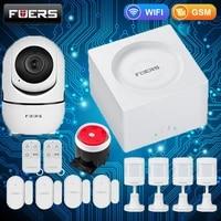 FUERS     systeme dalarme domestique intelligent  wi-fi  GSM  sans fil  controle via application Tuya  G95   avec langue de diffusion vocale