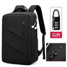 الرجال حقيبة السفر متعددة الوظائف سعة كبيرة الذكور حقائب 15.6 بوصة حقيبة لابتوب حقائب مدرسية مقاوم للماء ومكافحة سرقة