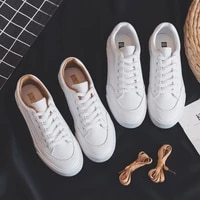 leather little white shoes female 2021 korean students versatile flat bottomed new board shoes breathable spring fashion shoes