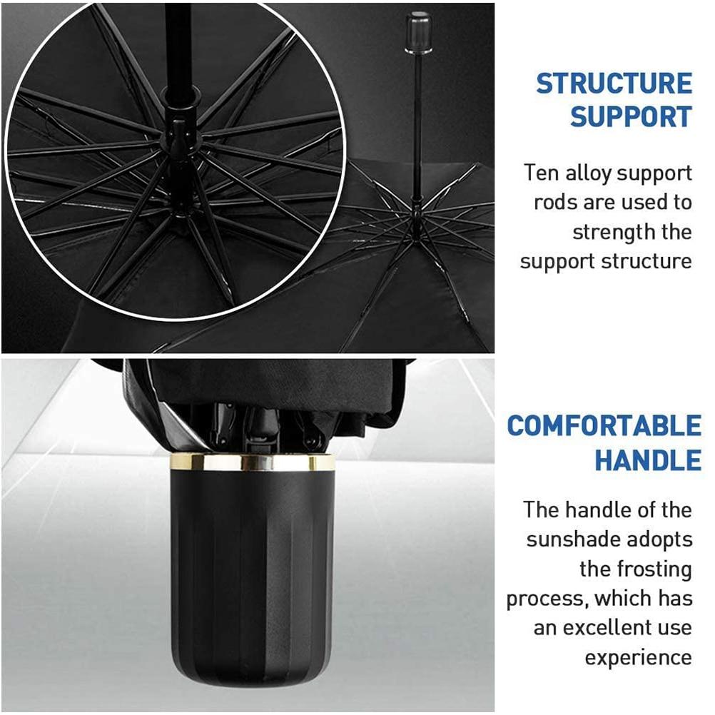 125cm 145cm Foldable Car Windshield Sun Shade Umbrella Car UV Cover Sunshade Heat Insulation Front Window Interior Protection