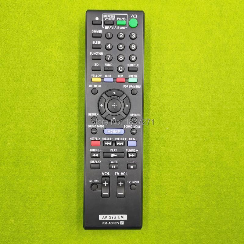 new original  remote control rm-adp072 for sony BDV-N790W E385 E390 E490  HBD-E190 N790W E385 E390 E490 TA-SA300WR Home Theater