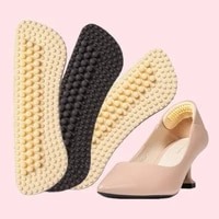 2pcs fashion 4d soft sticky silica gel dust shoe pads liner grip back heel insoles silicone anti wear feet light weight hot sale