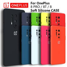 Original OnePlus 8 Pro Case High Quality Liquid Silicone Soft Cover For 8PRO 9R OnePlus8 OnePlus9 8T