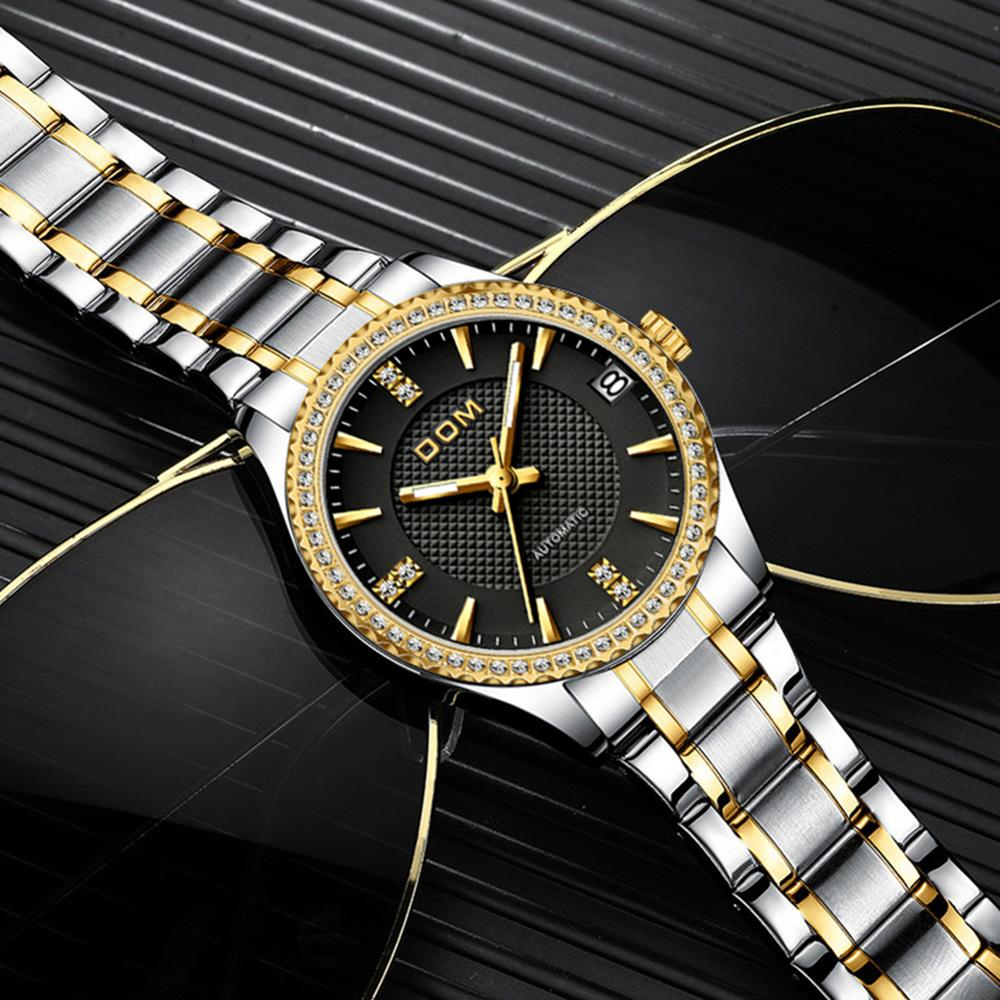 DOM automatic mechanical watchcouple watch business female watch sports men's watch waterproof stainless steel luminous fashion enlarge