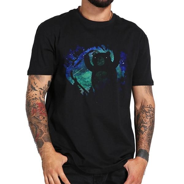 bear T Shirt Men  T Shirts New Summer Short Sleeve O-neck Cotton T-shirt Tops футболка mishka bear mop t shirt navy m