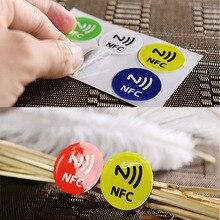Étiquettes autocollantes étanches en PET, NFC, Smart Ntag213, pour tous les téléphones