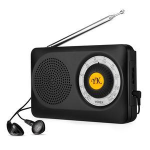 YOREK Pocket Radios, Battery Operated AM FM Radio with Loud Speaker, Portable Transistor Radio for Walking, Camping