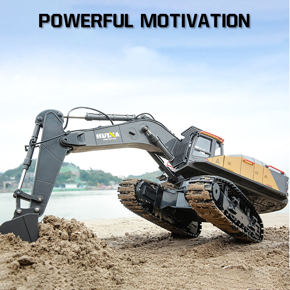 1/14 Huina Rc Truck Excavator Machine On Control Caterpillar Alloy Engineering Car Remote Control Vehicle Tractor Toys for Boy enlarge