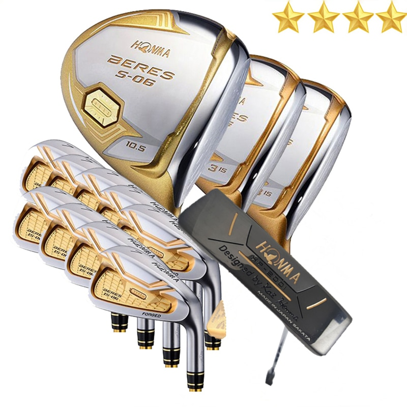 Honma s-06 golf clubs full set of men's four-star golf clubs tee wood fairway wooden iron free of charge