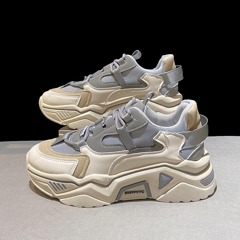 Zapatillas De deporte con plataforma para Mujer, zapatos vulcanizados informales De fondo...