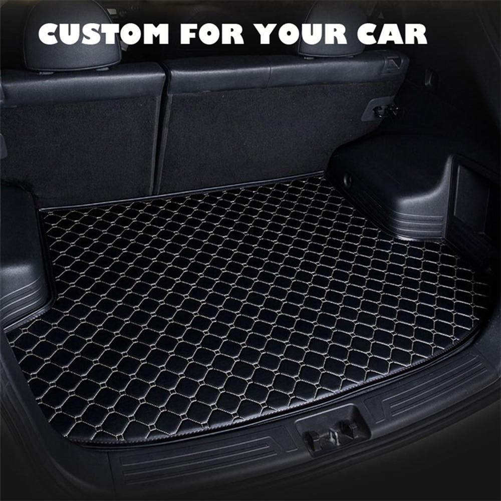 SJ personalizado a prueba de agua para el maletero del coche estera de AUTO cola de arranque de la bandeja del forro de la alfombra de la carga Protector adecuado para Honda SPIRIOR 2015 16 17 18 2019